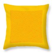 Yellow Chevron Waves Throw Pillow