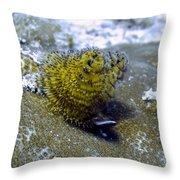 Yellow Christmas Tree Worm Throw Pillow