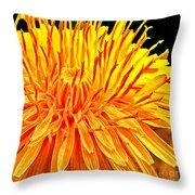 Yellow Chrysanthemum Painting Throw Pillow