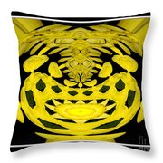 Yellow Chrysanthemums Polar Coordinates Effect Throw Pillow