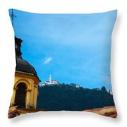 Yellow Church And Monserrate Throw Pillow