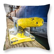 Yellow Cleat Throw Pillow