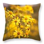 Yellow Countryside Throw Pillow