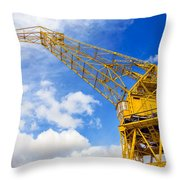 Yellow Crane And Sky Throw Pillow