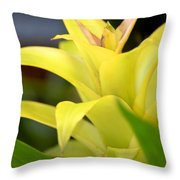 Yellow Cream Tropical Throw Pillow