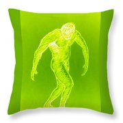 Yellow Croquis Throw Pillow