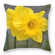 Yellow Daffodils Throw Pillow