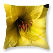 Grace Yellow Day Lily Art Throw Pillow