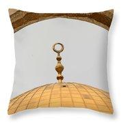 Yellow Dome Throw Pillow