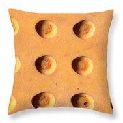 Yellow Dots Metal Throw Pillow