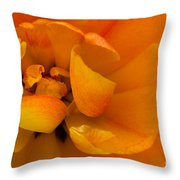 Yellow Double Tulip Throw Pillow