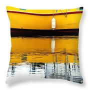 Yellow Drift Throw Pillow