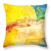 Yellow Explosion Throw Pillow