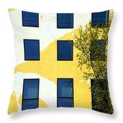 Yellow Facade In Berlin Throw Pillow