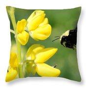 Yellow Faced Throw Pillow