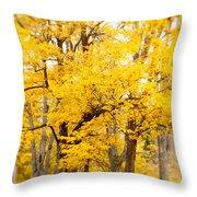 Yellow Fall Throw Pillow
