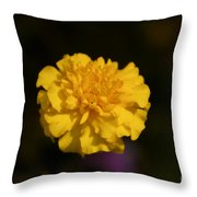 Yellow Fall Flower Throw Pillow