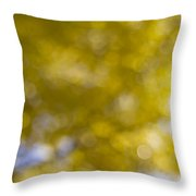 Yellow Fall Foliage Blurred Background Throw Pillow