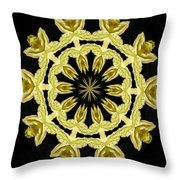 Yellow Fantasy Throw Pillow