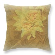 Yellow Fascinator With Feathers Throw Pillow