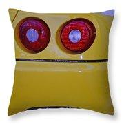 Yellow Ferrari Tail Lights Throw Pillow