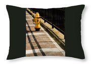 Yellow Fire Hydrant - Pittsfield - Massachusetts Throw Pillow