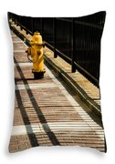 Yellow Fire Hydrant - Pittsfield - Massachusetts Throw Pillow