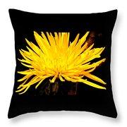 Yellow Flash Throw Pillow