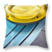 Yellow Float Palm Springs Throw Pillow