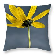 Yellow Flower Against A Stormy Sky Throw Pillow