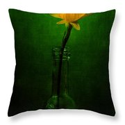 Yellow Flower In A Bottle I Throw Pillow