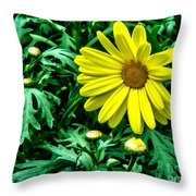 Yellow Flower Of Spring Throw Pillow