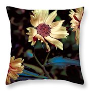 Yellow Flower Viii Throw Pillow