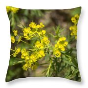 Yellow For Summer Throw Pillow