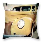 Yellow Gangsta Street Rod Throw Pillow