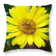 Yellow Glory Throw Pillow