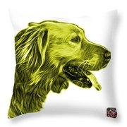 Yellow Golden Retriever - 4047 Fs Throw Pillow