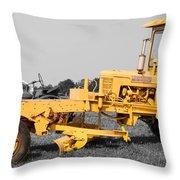 Yellow Grader Throw Pillow