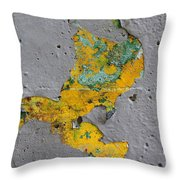 Yellow Graffiti Throw Pillow