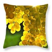 Yellow Grapes Throw Pillow