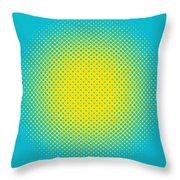 Optical Illusion - Yellow On Aqua Throw Pillow