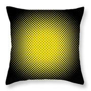 Optical Illusion - Yellow On Black Throw Pillow