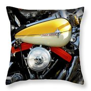 Yellow Harley Throw Pillow by Lainie Wrightson