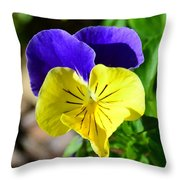 Yellow Heart Throw Pillow