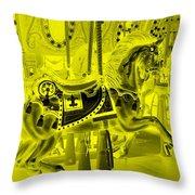 Yellow Horse Throw Pillow