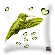 Yellow Hummingbird - 2055 F S M Throw Pillow