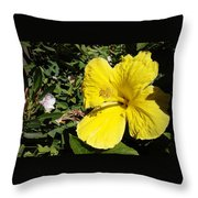Yellow Hibiscus For Mom Throw Pillow
