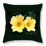Yellow Hybiscus Throw Pillow