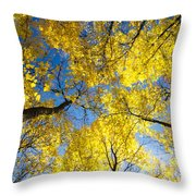 Yellow In The Sky Throw Pillow