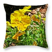 Yellow Flower In The Sun Throw Pillow
